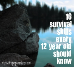 10 Survival Skills Every 12 Year Old Should Know ~ Mom with a Prep Blog