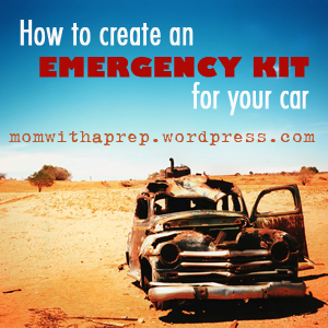 How to Create an Emergency Car Kit  |  Mom with a Prep { blog}